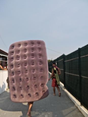 Walking mattress