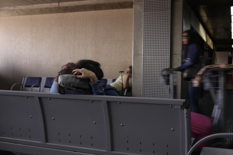 Airport sleeping